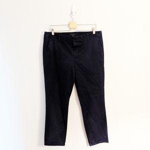 Tommy Hilfiger Navy Blue Straight Leg Pants